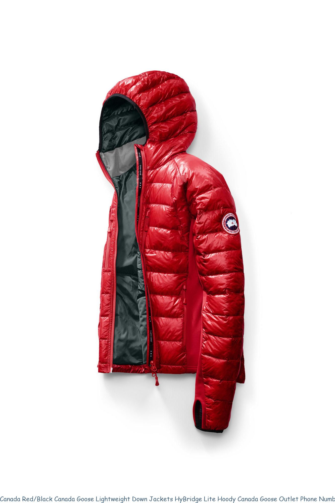 Canada Red/Black Canada Goose Lightweight Down Jackets ...