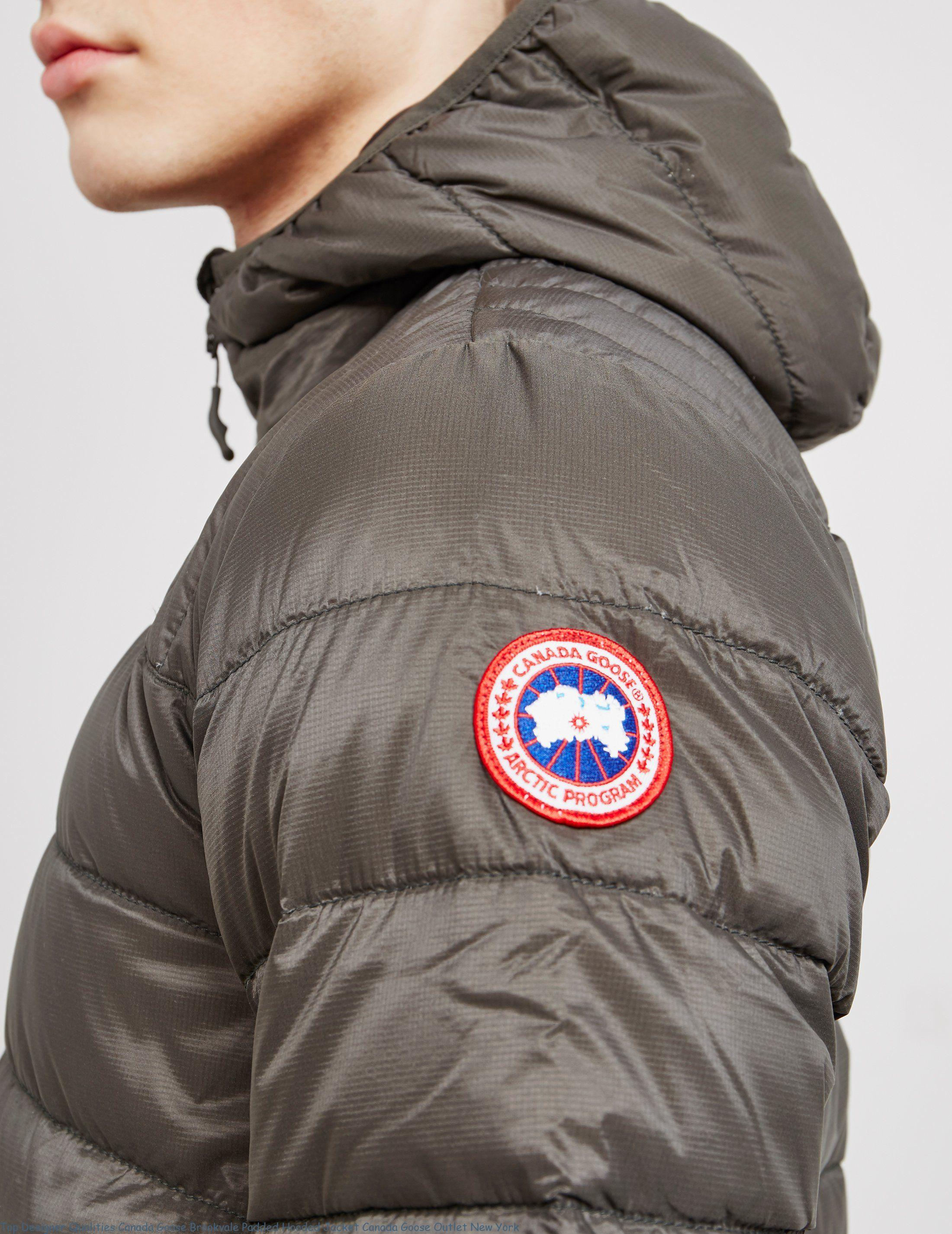 f1611bc9089 Top Designer Qualities Canada Goose Brookvale Padded Hooded Jacket Canada  Goose Outlet New York